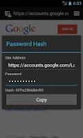 Screenshot of Password Hash