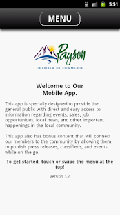 Payson City Chamber - screenshot
