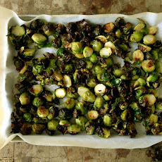 Roasted Brussel Sprouts with Mustard Soy Vinaigrette