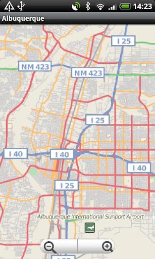 Albuquerque Street Map