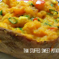 Thai Stuffed Stuffed Sweet Potatoes