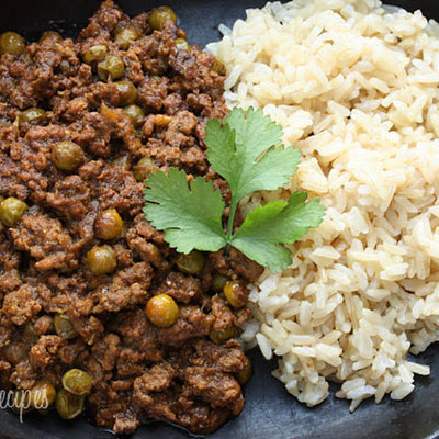 Lamb Kheema with Peas