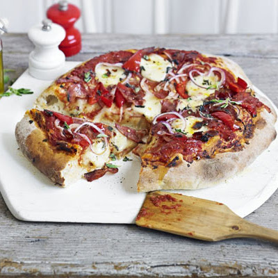 Salami & Peppadew Pizza