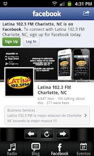 Latina 102.3 FM - screenshot
