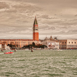 City of love by Massimo Mazzasogni - City,  Street & Park  Skylines ( venezia, tower, massimo mazzasogni, sea, san marco )