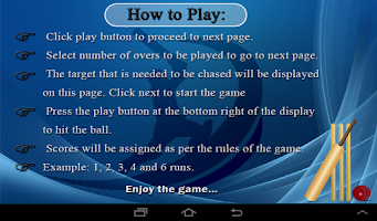 Screenshot of Cricket Game 2014