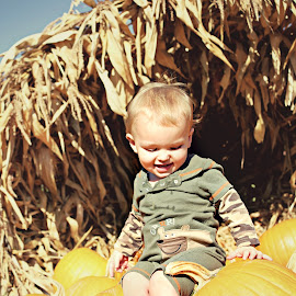 Pumpking by Morgan Jacques - Babies & Children Toddlers ( child, 1, season, autumn, pumpkin, infant, fall, baby, cute, toddler, king )