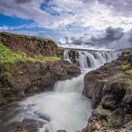 Kolugljufur, Iceland by Arnar Sigurbjörnsson - Landscapes Waterscapes ( iceland, river in iceland, kolugljufur, kolugljúfur, waterfall, north iceland, travel iceland, kolufoss, cliff in iceland, rocks )