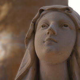 Holy Mary by David Cummings - Buildings & Architecture Statues & Monuments ( religion, prayer, woman, holy, mary )