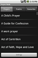 Screenshot of Prayer Book