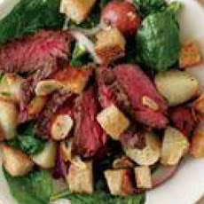 Steak-and-Potato Salad with Mustard Dressing
