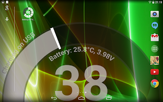 Screenshot of Battery LiveWallpaper HD