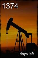 Screenshot of Peak Oil Widget