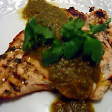 Grilled Chicken With Chile Verde Sauce