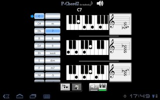 Screenshot of PChord2  (Piano Chord Finder)