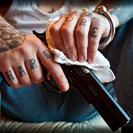 Hard core  by Stefan Mihailovic - People Body Art/Tattoos ( hand, hard core, guns, hands, tattoos, tattoo, gun )