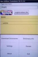 Screenshot of Box Offline Translator Free
