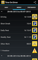 Screenshot of Time On Driver