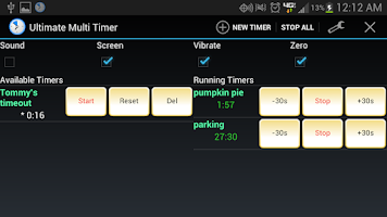 Screenshot of Ultimate Multi Timer