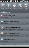 Screenshot of Calendar Boom-Events Reminders