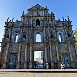 Ruins Of St. Pauls by Shalabh Sharma - Buildings & Architecture Statues & Monuments ( st. pauls, macau, ruins )