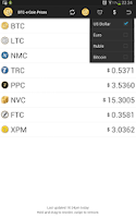 Screenshot of BTC-e Coin Price Checker
