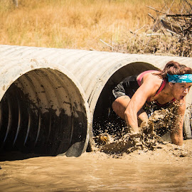Culvert Crawl by Will Ballew - People Street & Candids ( mud, billings, dirty dash )
