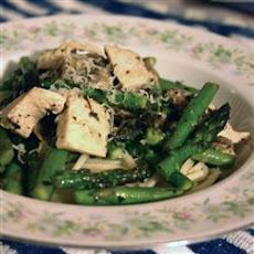 Chicken, Asparagus and Mushroom Sauté