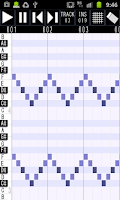 Screenshot of Palmidi Lite (MIDI Sequencer)