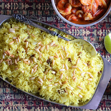 Saffron Rice with Golden Raisins and Pine Nuts