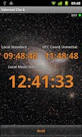 Screenshot of Sidereal Clock
