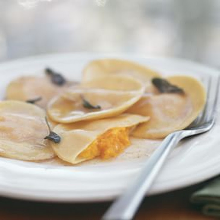 Pumpkin Tortelli with Brown Butter and Sage Recipe | Yummly