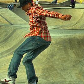Skateboarder by Jose Matutina - Sports & Fitness Skateboarding ( long beach, california, skateboarder )
