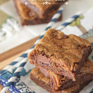 Brown Butter Gingerbread Chocolate Chip Cookie Bars