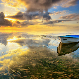 Enchanted by Hendri Suhandi - Landscapes Sunsets & Sunrises ( clouds, bali, nature, sanur, reflections, sunrise, beach, travel )