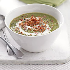 Creamy Lentil & Spinach Soup With Bacon