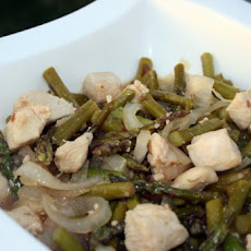 15 Minute Stir Fried Chicken & Asparagus
