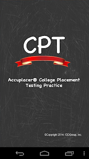 Accuplacer ® CPT College Test - screenshot