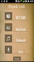 Screenshot of Prank call