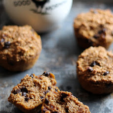 Pumpkin Chocolate Chip Oat Protein Muffins