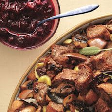 Pear, Mushroom and Pomegranate Stuffing