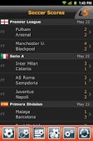 Screenshot of LiveScore