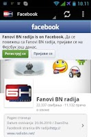 Screenshot of BN Radio Android aplikacija