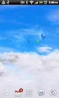 Screenshot of Blue Skies Free Live Wallpaper