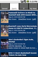 Screenshot of Seton Hall Info