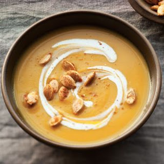 Pumpkin Soup with Spicy Pumpkin Seeds