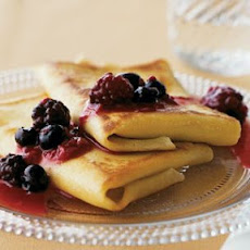 Cheese Blintzes with Berry Jam