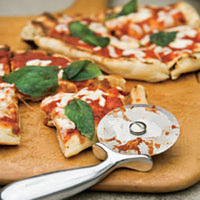 Grilled Tomato-Basil Pizza
