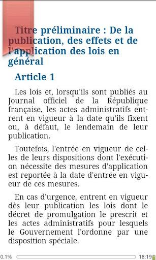Le code civil des Français