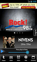 Screenshot of 98.9 The Rock!
